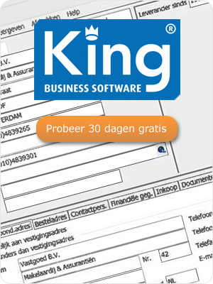 Probeer King Business Software 30 dagen gratis.
